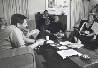 Dolph Sharp's writers' group with Ray Bradbury